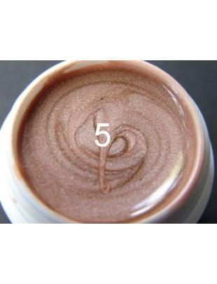 Żel a.t.a metaliczny 5 ml kakao nr 5