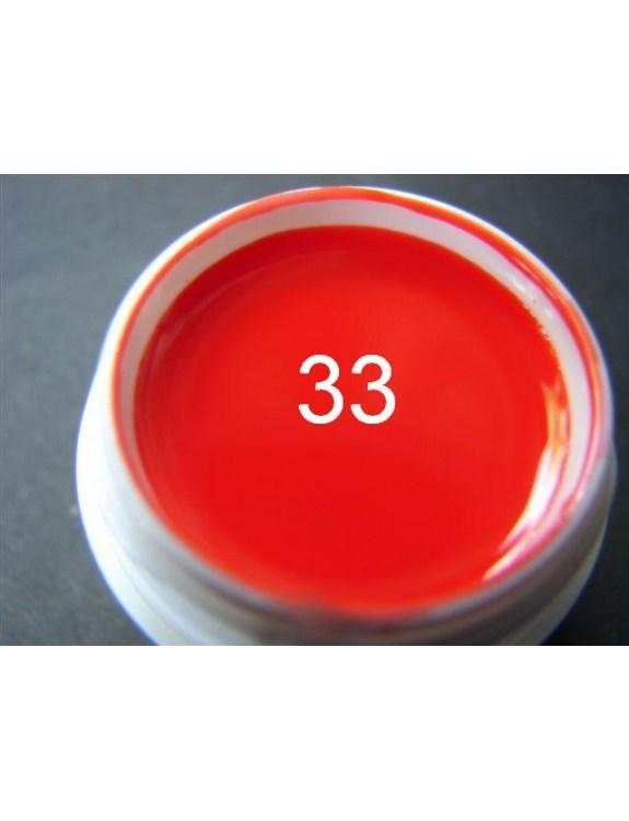 Żel a.t.a 5 ml kolor ognista czerwień nr 33