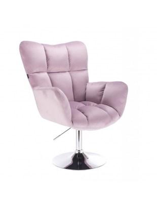 Krzesło tapicerowane PEDRO kosmetyczne wrzosowy welur