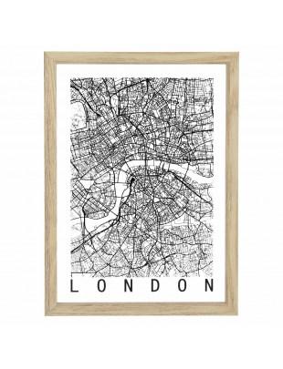 Obraz Mapa Londyn