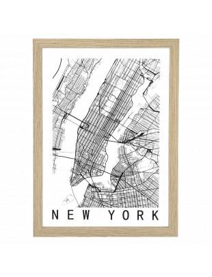Obraz Mapa New York
