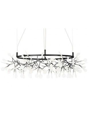 Lampa wisząca FLORA 100 czarna - LED, metal