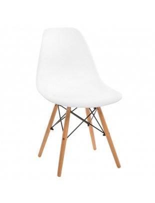Krzesło Simplet P016W basic białe outlet