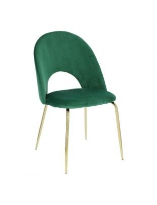 Krzesło Solie Velvet zielone/złote outle t