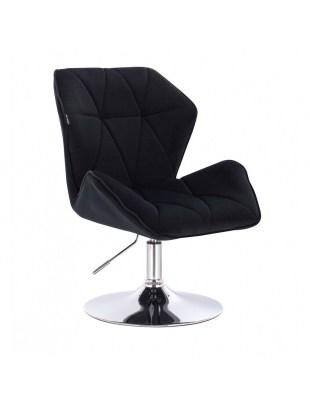 Krzesło kosmetyczne CRONO czarne welurowe