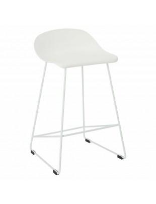 Krzesło barowe Molly białe Low