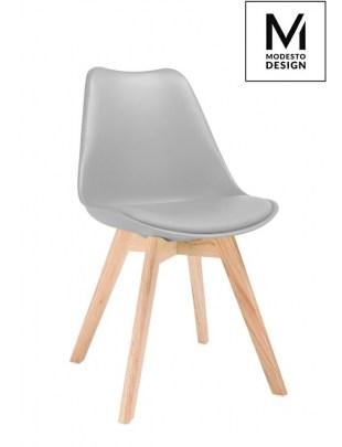 MODESTO krzesło NORDIC szare - podstawa bukowa