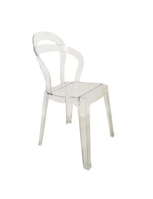 Krzesło MERCI transparentne - poliwęglan
