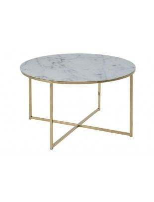 ACTONA stolik ALISMA 80 - szkło, złote nogi