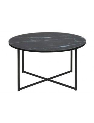 ACTONA stolik ALISMA 80 - szkło, czarne nogi