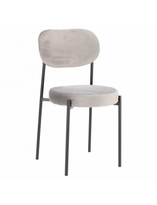 Krzesło Camile Velvet szare
