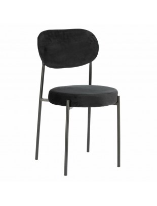 Krzesło Camile Velvet czarne