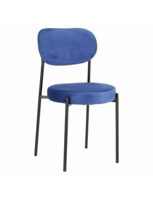 Krzesło Camile Velvet niebieskie