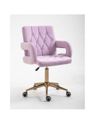 Krzesło kosmetyczne SURF BIS welur wrzosowy