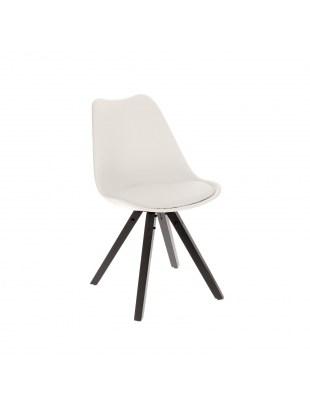 Krzesło Norden Star Square black PP biał e