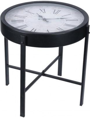Stolik z zegarem Montre czarny