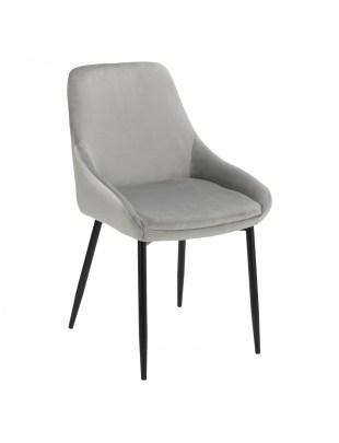 Krzesło Floyd Velvet szare