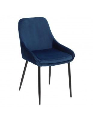 Krzesło Floyd Velvet niebieskie