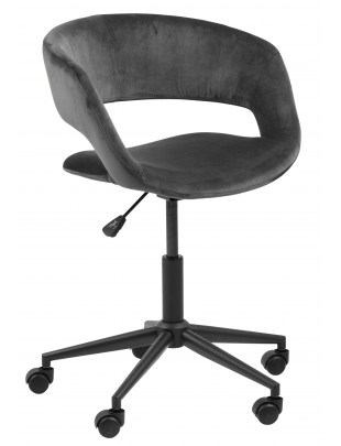Fotel biurowy na kółkach Grace VIC dark grey