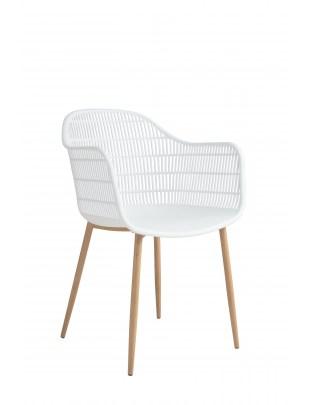 Krzesło Becker białe/naturalne
