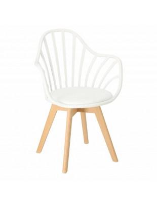 Krzesło Sirena z podłokietnikami białe
