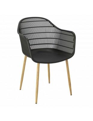 Krzesło Becker czarne/naturalne