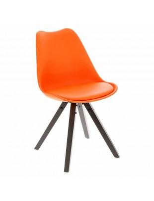 Krzesło Norden Star Square black PP poma rańczowe