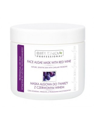 BIELENDA maska algowa-190g-czerwone wino-ZAPAS
