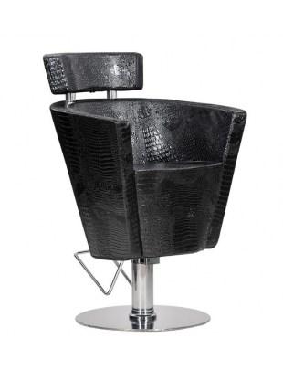 Fotel fryzjerski Prima czarny krokodyl