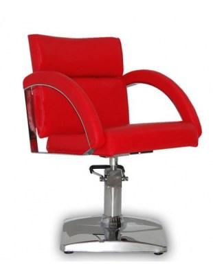 Fotel fryzjerski VERONA CZERWONY
