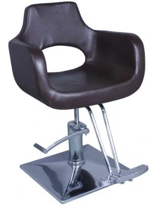Fotel fryzjerski Ravenna - brązowy
