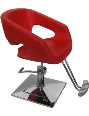 Catania - Fotel fryzjerski czerwony