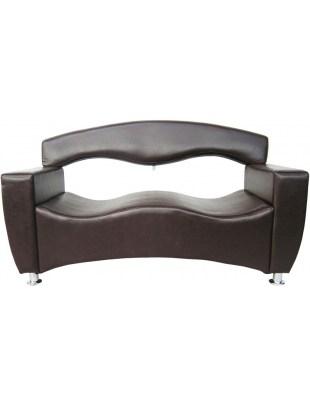 Auge 1996 - sofa do poczekalni brązowa