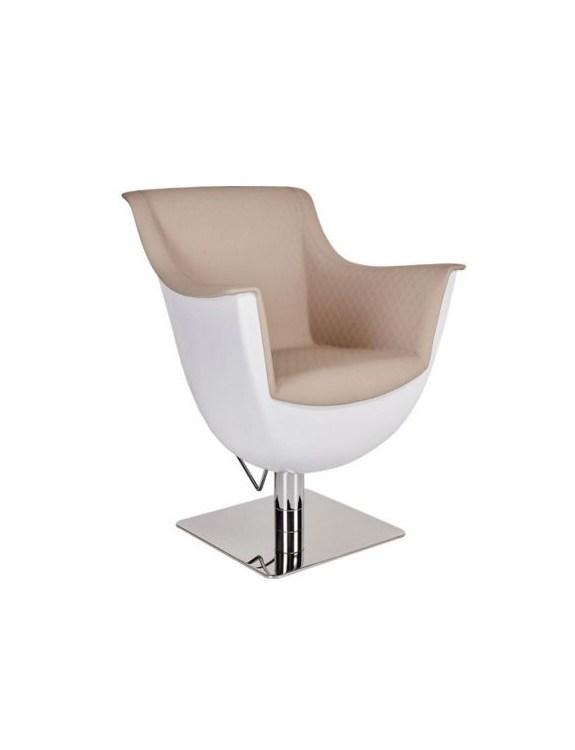 Fotel fryzjerski RIALTO srebrny