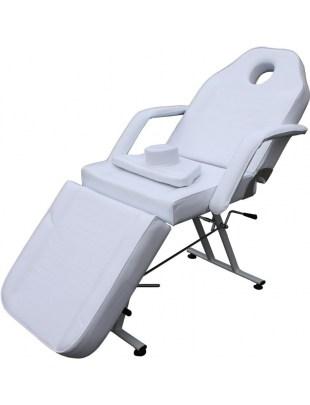 1067 - Fotel kosmetyczny trójdzielny biały