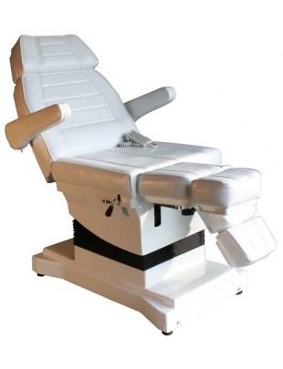 1444 - Fotel kosmetyczny  pedicure elektryczny - biały