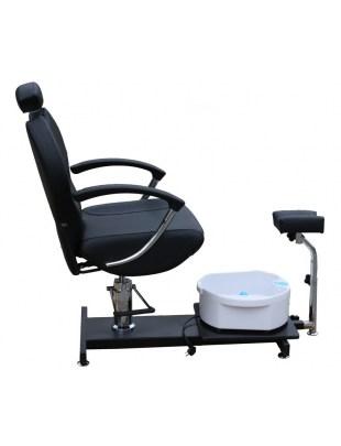 1047 - Fotel kosmetyczny do pedicure czarny
