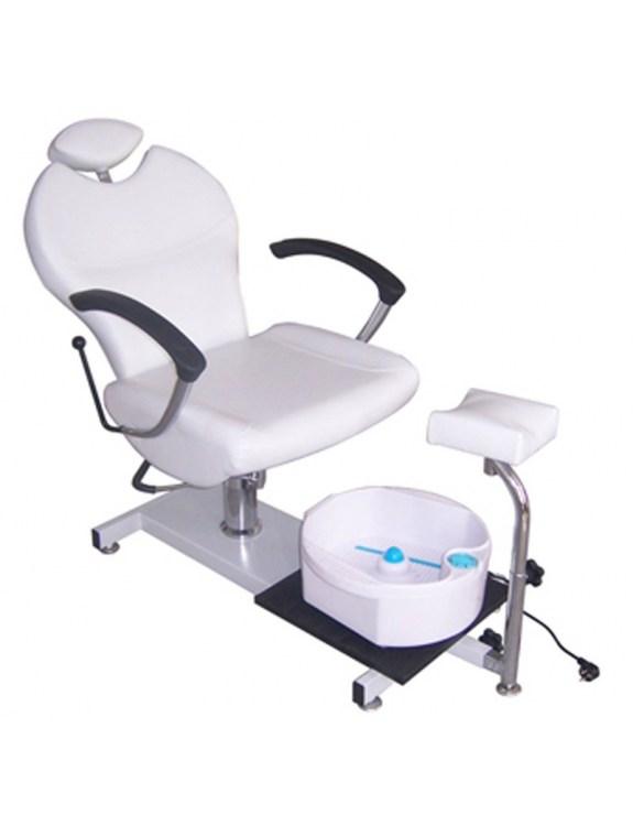 Fotel kosmetyczny do pedicure 1047 biały