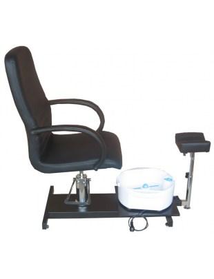 1137 - Fotel kosmetyczny do pedicure z masażerem czarny