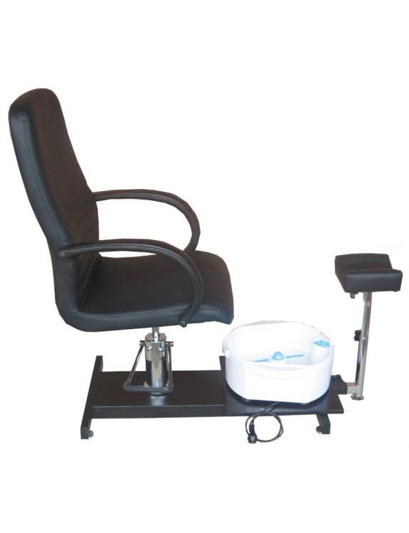 Fotel kosmetyczny do pedicure z masażerem 1137 czarny