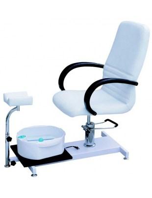 Fotel kosmetyczny do pedicure z masażerem 1137 biały