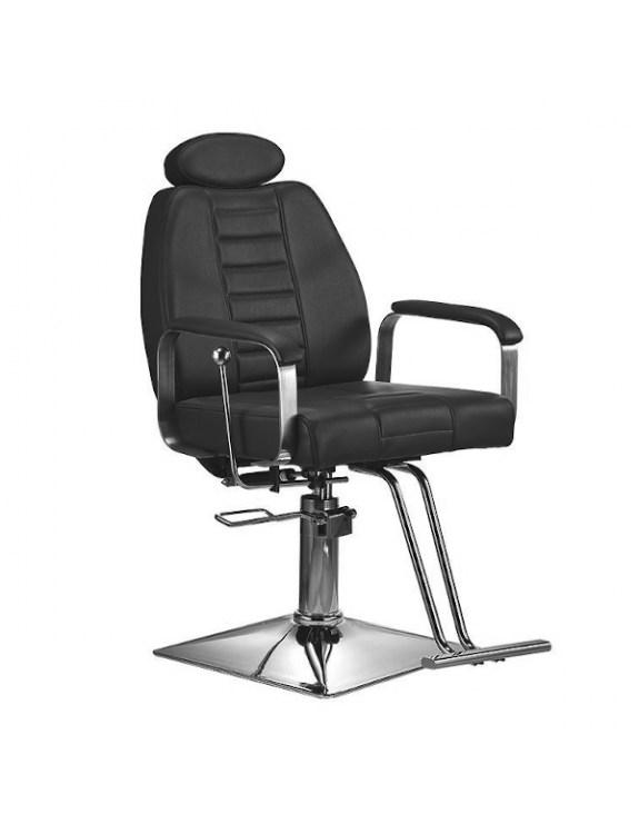 Męski fotel fryzjerski z podnóżkiem BARBER LORD barberski