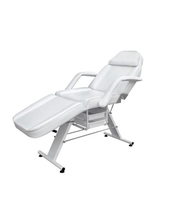 Regulowany fotel kosmetyczny ALEX CLASSIC WHITE z kuwetami