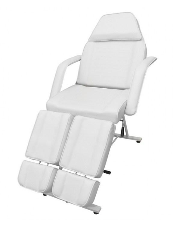 Biały fotel Kosmetyczny podnóżek pedicure SUZI PEDICURE WHITE
