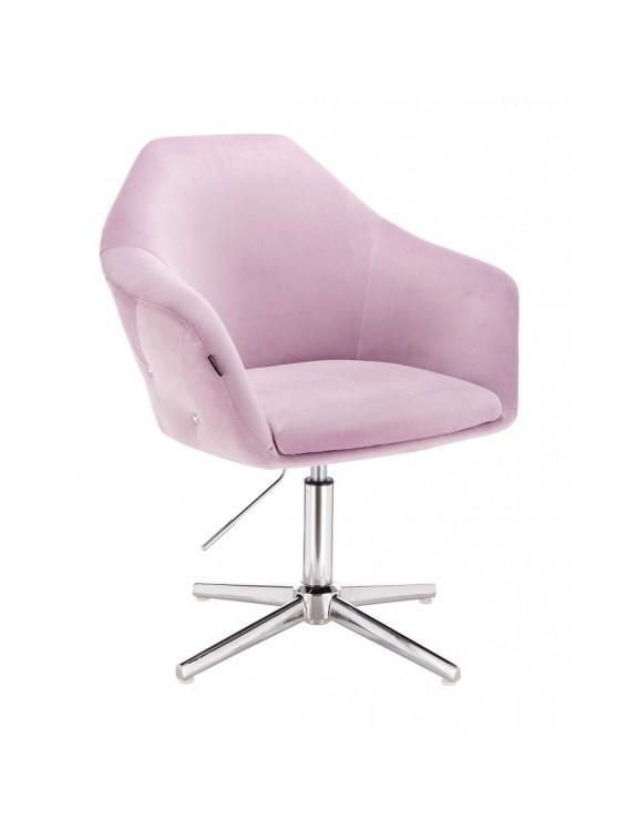 Piękne krzesło kosmetyczne wrzosowe EDUARDO do salonu kosmetycznego