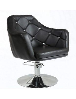 Blink LUX - fotel fryzjerski czarny