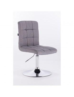 Camelia - krzesło kosmetyczne szare tkanina