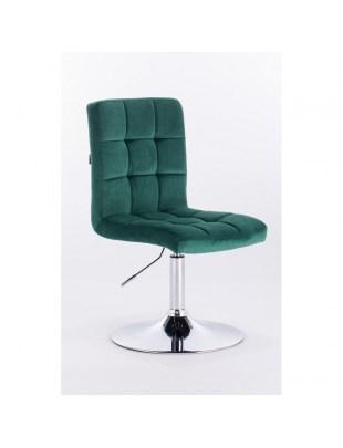Camelia - krzesło kosmetyczne turkusowe welur