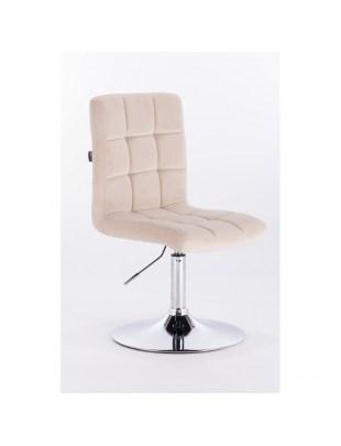 Camelia - Krzesło kosmetyczne kremowy welur