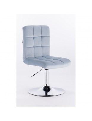 Camelia - Krzesło kosmetyczne błękitny welur
